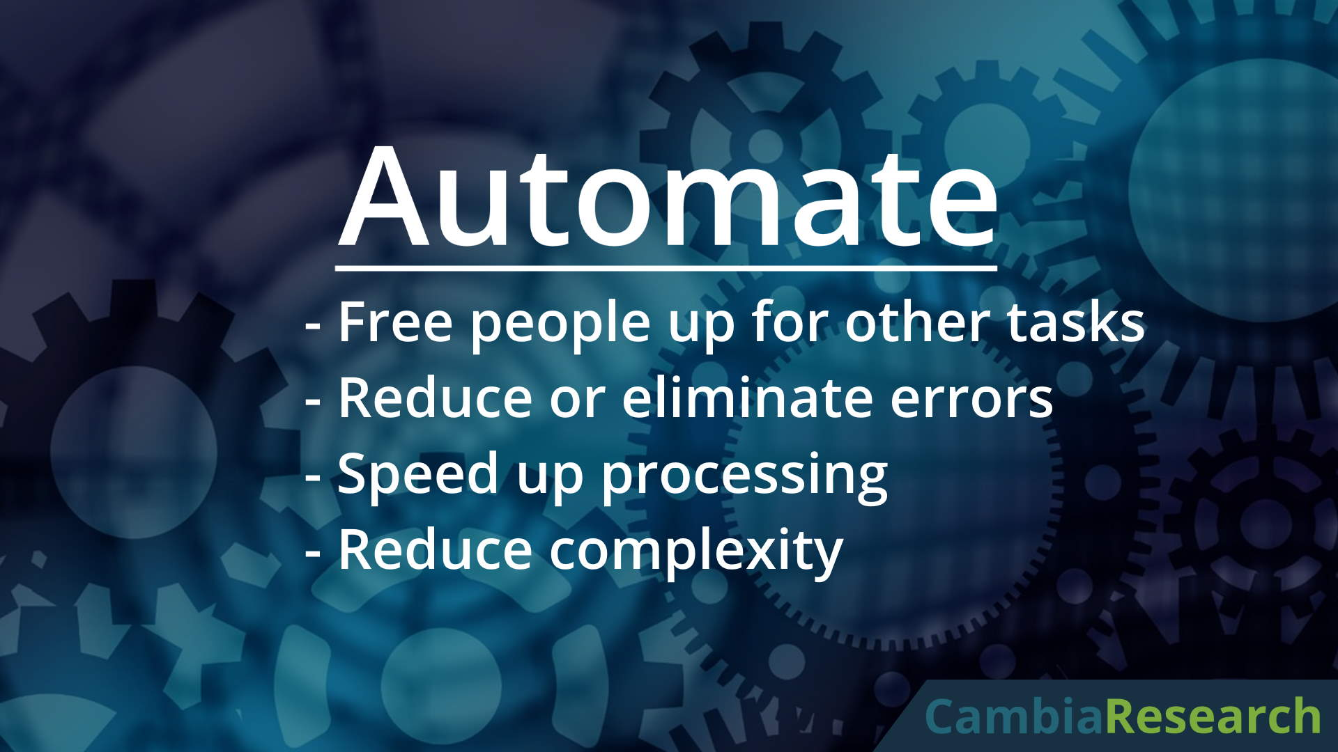 Automate your business processes with custom software.